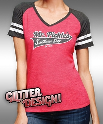 Ladies Mr. Pickle's Sports Glitter T-shirt