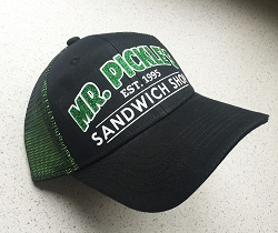 GLITTER DESIGN! Green/Black Double Mesh Snapback Sandwich Bill Cap Hat