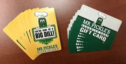 Mr. Pickle's Sandwich Shop Gift Card - Loaded with amount of your choosing